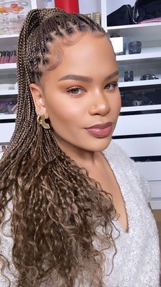 bronze makeup looks Feed In Braids Hairstyles, Braided Hairstyles, Alissa Ashley, Bronze Makeup Look, Double Chin, I Feel Pretty, Makeup Inspo, Makeup Looks, Facial
