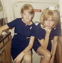 swingin 60s ? Notice the slip...anyone wear them now other than as dresses? Glamorous life of a stewardess