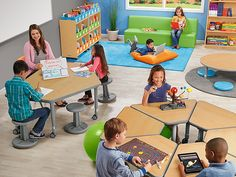 Top-quality classroom furniture—from traditional chairs & tables to mobile desks & other flexible seating options! Plus, shop rugs, storage units & more. Types Of Flooring, Flooring Options, Classroom Design, Classroom Seats, Space Classroom, Classroom Table, Classroom Carpets, Classroom Economy, Daycare Rooms