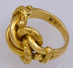 Victorian Gold Lovers Knot Ring thumbnail 2