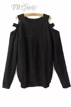 Tbdress.com offers high quality Multi Color Off Shoulders Long Sleeves Sweater  Sweaters unit price of $ 20.09.