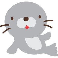 Create a Critter 33 Baby Animals, Cute Animals, Cute Seals, Create A Critter, Clip Art, Applique Patterns, Cute Images, Stuffed Animal Patterns, Nursery Art