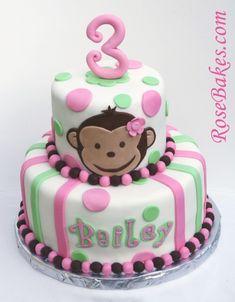 Monkey Cake, Taylor wants a monkey bday party...:)