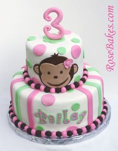 Monkey Cake, Taylor wants a monkey bday party...:)
