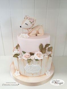 Cute Birthday Cakes, Beautiful Birthday Cakes, Beautiful Cakes, Gateau Baby Shower, Baby Shower Cakes, Girl Shower Cake, Pretty Cakes, Cute Cakes, Cake Designs For Kids