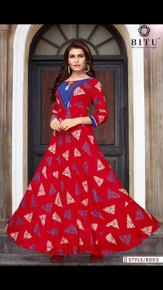 NEW COLLECTION IN KURTIS HAS ARRIVED. RED GOWN IN RAYON SOLD BY CS VILLE CONT. FOR MORE AT 9891403364 Fashion Wear, Trendy Fashion, Womens Fashion, Latest Fashion, Rayon Kurtis, Red Gowns, Pink Dress, Bridal Dresses, Two Piece Skirt Set