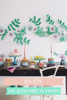 DIY déco pour une fête ou un mariage  faire une guirlande XXL de fleurs en 1aafe403d1b