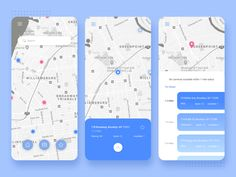 Parking app concept by Isabel Rosher Bus App, Google Maps App, Parking App, Mobile App Design, Mobile Ui, App Ui, Ipad App, Portfolio Web Design, Interface Design
