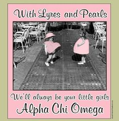 all the best girls wear lyres and pearls!  <3 Alpha Chi Omega