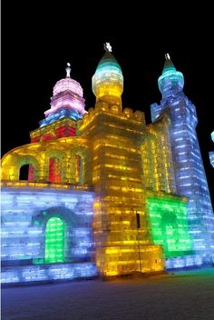 "The ""Harbin International Ice and Snow Festival"" is one of the four largest ice and snow festivals in the world, along with Japan's Sapporo Snow Festival, Canada's Quebec City Winter Carnival, and Norway's Ski Festival.    Posted by Wael Moda"