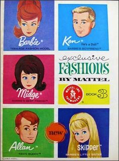 1963 Mattel Booklet - Barbie Exclusive Fashions by Mattel - Book 3