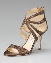 Jimmy Choo LALI GLITTER SANDAL from NM