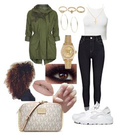 """""""#309"""" by o0dejah0o on Polyvore featuring Topshop, NLY Trend, River Island, NIKE, Michael Kors, Castello, Sterling Essentials, Adia Kibur and Rolex"""