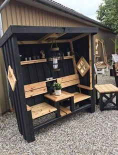 Pallet Home Decor, Wooden Pallet Projects, Diy Pallet Furniture, Wooden Pallets, Garden Furniture, Wood Furniture, Outdoor Furniture Sets, 1001 Pallets, Pallet Benches