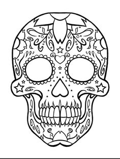sugar skull coloring pages printable skull coloring pages for developing knowledge in human physiology isaccorpcom