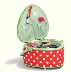 Prym sewing basket, Heart Polka Dots | Nähkorb, Herzform Polka Dots