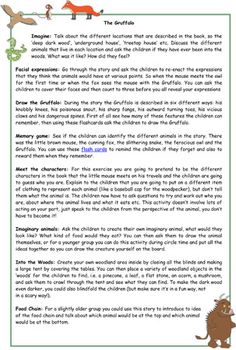Early Learning Resources The Gruffalo Activity Ideas Gruffalo Eyfs, Gruffalo Activities, The Gruffalo, Gruffalo Party, Nature Activities, Learning Resources, Forest School Activities, Activities For 1 Year Olds, Recycling