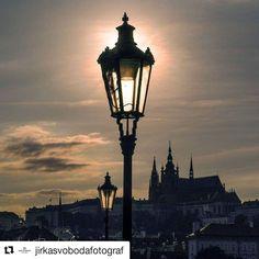 #Repost @jirkasvobodafotograf in Prague  GOOD EVENING FROM PRAGUE #jirkasvobodafotograf #praha #praga #prague #evening #eveninginprague #sunsetinprague #sunset #eveningsun #goldenhour #silhouettes #praguecastle #lanterns #spires #streetlamps #streetphoto #nightsky #creativephoto #czechia #czechrepublic #czechphotographer #praguephotographer #visitcz #visitprague #prahaeu #pragueeu #themostbeautifulcityintheworld
