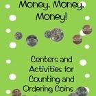Money Money Money Coin Activities and Centers CCSS Aligned
