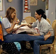 Rachel Green and Monica Geller Friends TV Show