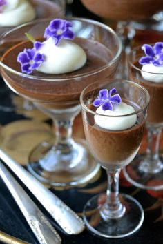 The creamiest best chocolate pot de creme, made right in your blender. from The View from Great Island
