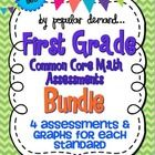 First Grade Common Core Math Assessment Bundle! $