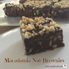 Macadamia Nut Brownies: ingredients, directions, and special baking tips from The Elf to make this easy brownie recipe from scratch. Brownie Mix Recipes, Cake Mix Cookie Recipes, Cake Mix Cookies, Cookies Et Biscuits, Best Appetizers, Appetizer Recipes, Recipe From Scratch, Recipe Community, Cookie Bars