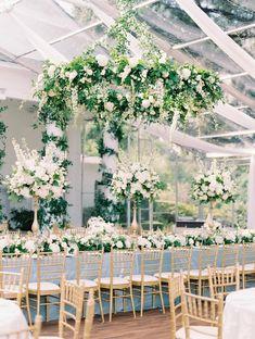 Green Wedding, Floral Wedding, Wedding Bouquets, Wedding Flowers, Wedding Day, Dessy Bridesmaid, Marquee Wedding, Ballroom Wedding, Reception Table