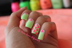 Quatrefoil pattern, ombre, neon colors. Follow me in Instagram @ilyanismile :) I will also be posting a tutorial of this look on YouTube search YouTube.com/user/ilyanismile