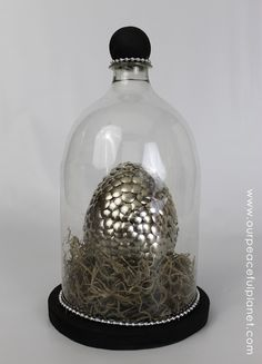 My Dragon Egg in my Bell Jar Display. BOTH are DIY seen on this board!