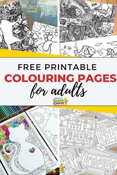 Free printable colouring pages for adults - KiddyCharts Free Adult Coloring Pages, Animal Coloring Pages, Free Printable Coloring Pages, Colouring Pages, Coloring Books, Free Printables, Mindfulness Colouring, Fun Activities To Do, Mindfulness Activities