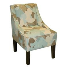 Skyline Furniture 72-1 Swoop Arm Accent Chair
