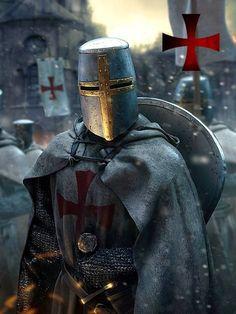 Medieval Knight, Medieval Armor, Medieval Fantasy, Armadura Medieval, Fantasy Armor, Dark Fantasy, Knights Templar History, Ps Wallpaper, Knight Tattoo