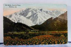 California-CA-Pomona-Old-Baldy-Sunrise-Postcard-Old-Vintage-Card-View-Standard