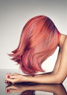 Multi Tonal Pink Hair Color