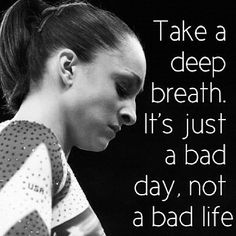 It's just a bad day.