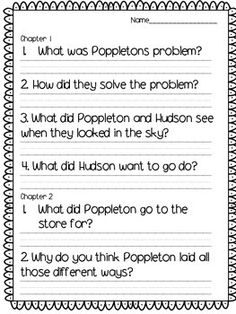Poppleton everyday book companion/ report tree map, story map, describing poppleton (adjectives), vocabulary page, book report, and more printables to go along with this favorite!