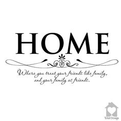 Home .. where you - Vinyl Wall Decal, Vinyl Wall Decor, Vinyl Decal, wall Decal, wall stickers, väggord, väggtext, väggdekor, 1084_