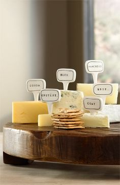 I like these cheese markers
