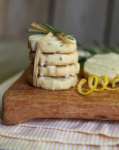 "Rosemary recipe contest winner - ""Rosemary Shortbread with Lemon Glaze"""