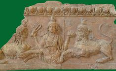 Isis flanked by a male (bearded) and a female Sphinx Rome, Palatine Museum - Isis-relief (terracotta) High resolution photo (The photo is my own and freely downloadable) This is one of several reliefs that formed part of the decoration of the Temple of Palatine Apollo; Isis holds a sistrum and a plate of fruit; she is flanked by a female and a male sphinx. The Egyptian symbolism may have recalled Augustus's victory over Antony and Cleopatra at Actium. Credits for the text: Barbara McManus…