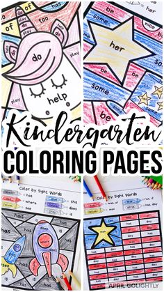 There are 20 pages of color by Sight Words worksheets in Back to School Color by Code words. These pages are fun and effective way to learn kindergarten common words - dolce and fry. Students can use crayons, colored pencils or markers. Pre- K Sight Words Printables, Sight Word Worksheets, First Grade Worksheets, Kindergarten Coloring Pages, Kindergarten Colors, Kindergarten Worksheets, Flag Coloring Pages, Alphabet Coloring, Free Printable Worksheets