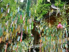 Mi viaje a Tokyo y Osaka 私の東京と大阪への旅行: El 7 de Julio es el Festival de Tanabata 七夕 Tanabata Festival, Japan Info, Star Festival, Japanese Festival, Festival Celebration, Sendai, Japanese House, Diy Wedding Decorations, Japanese Culture