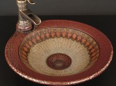 Pottery sink for the powder room.