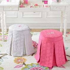 Pleasing 7113 01 Debbie Vanity Stool In Spencer Fabric From Emerson Machost Co Dining Chair Design Ideas Machostcouk
