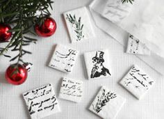 How-Tuesday: Stamped Peppermint Candy on Etsy