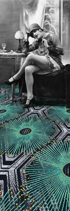 Stacy Garcia for Brintons Carpet - Speakeasy Collection 1920s style