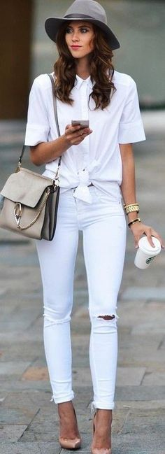 #fall #trending #outfits | All White
