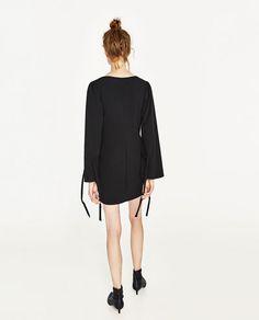 Image 5 of BOW SLEEVE DRESS from Zara