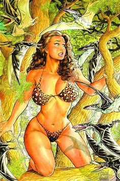 "Cavewoman, constant presence in my dreams. - Board ""Art - Budd Root"" - Illustration by Budd Root. -"